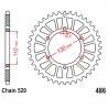 Corona 37 Denti Passo 520 Ducati Argento